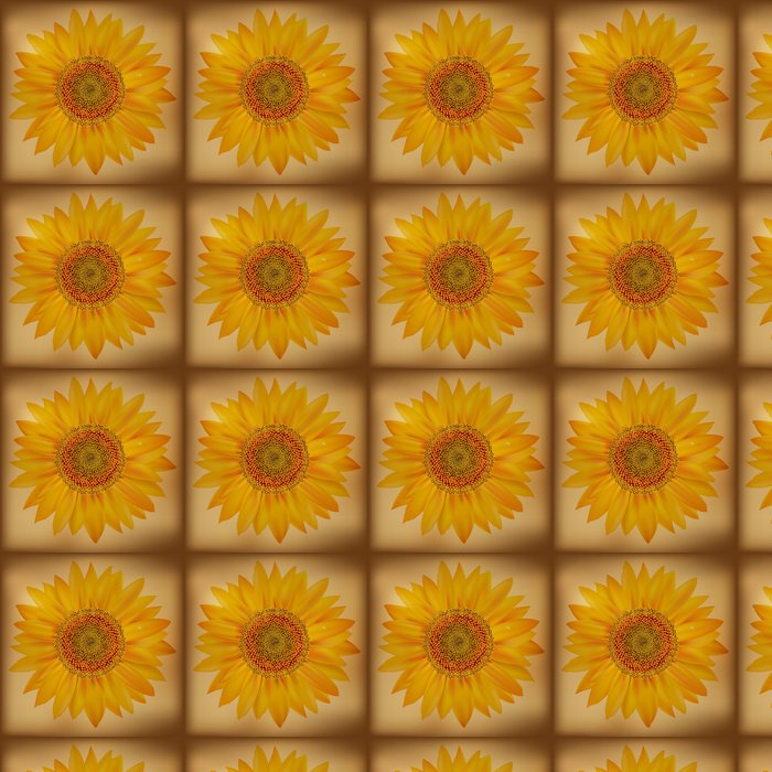 Vinylová Tapeta Vintage Slunečnice - Květiny