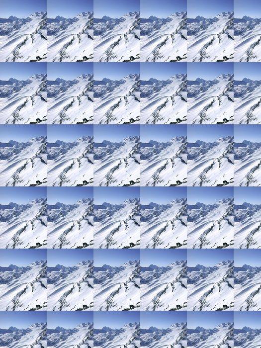 Vinylová Tapeta Hory vrcholy v 3 Vallees - Hory