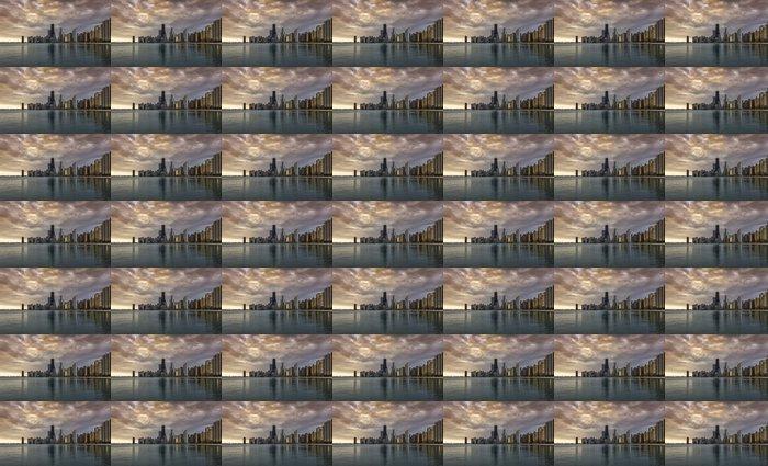 Vinylová Tapeta Chicago svítání panorama - Amerika