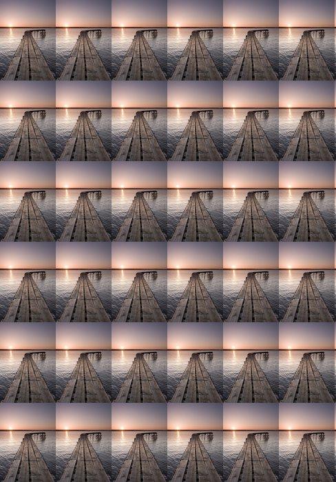 Vinylová Tapeta Yorkšírský molo při západu slunce - Voda