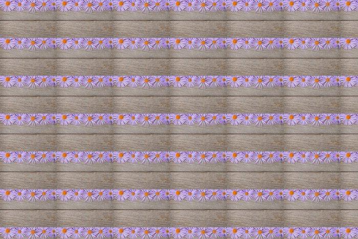 Vinylová Tapeta Dřevěné pozadí s modrými květy - Národní svátky