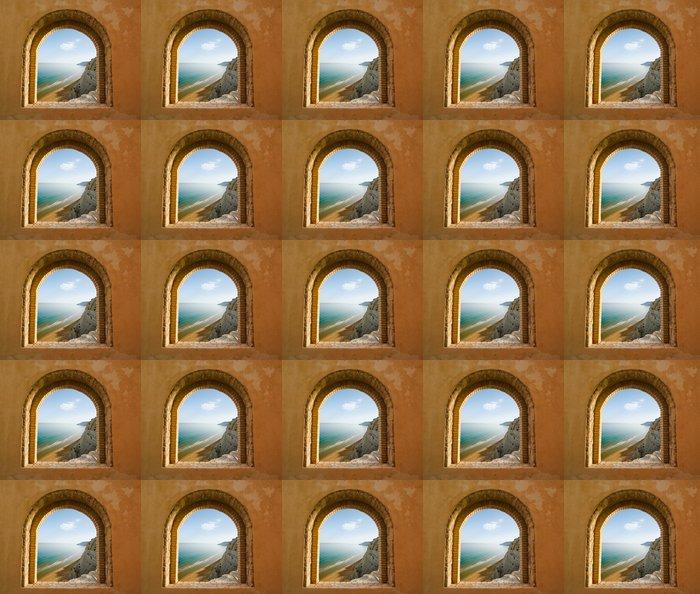 Vinylová Tapeta Klenuté okno na pobřežní krajiny zátoce - Témata