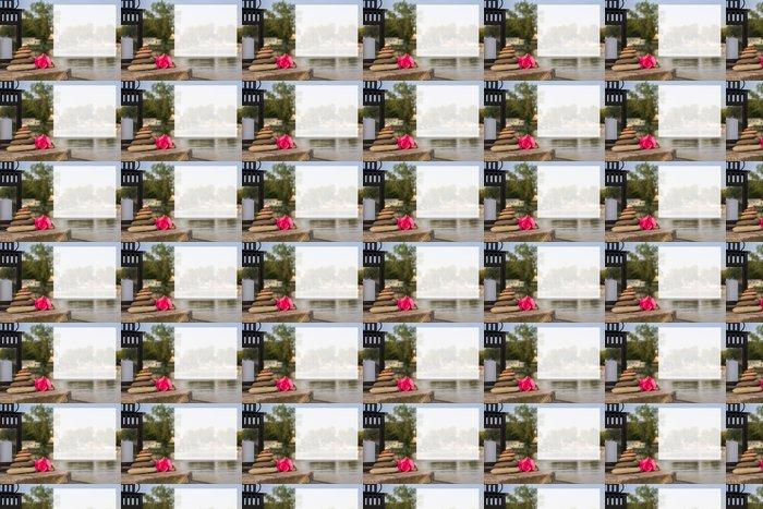 Vinylová Tapeta Feng Shui - Seaside s textovým polem - Pozadí