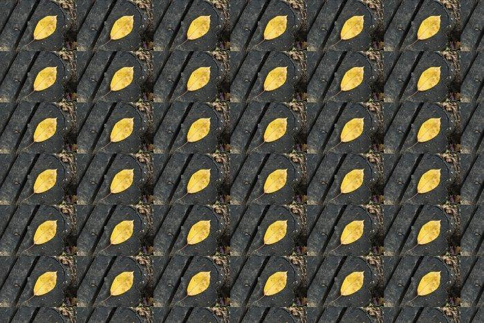 Vinylová Tapeta Single Podzimní listí na kmen stromu - Pozadí