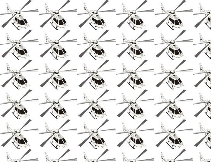 Vinylová Tapeta Civilní vrtulník - Nálepka na stěny