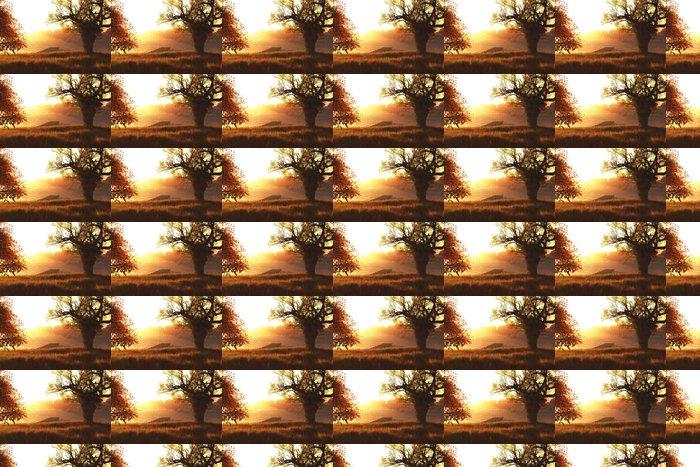 Vinylová Tapeta Podzimní slunce / Sunrise na 3D jezera činí - Témata