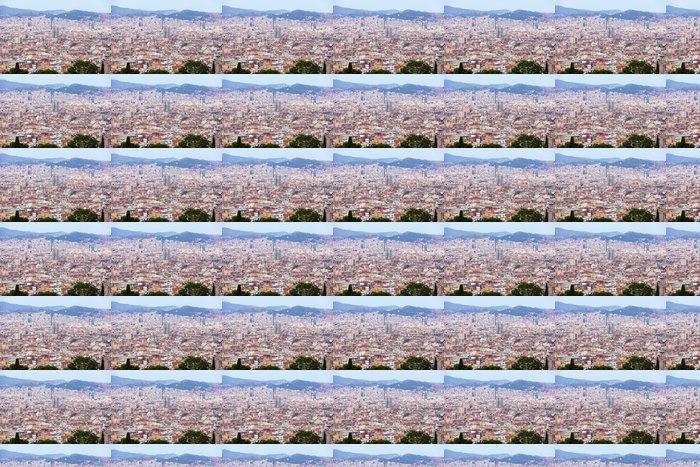 Vinylová Tapeta Den celkový pohled na Barcelona panoráma - Témata