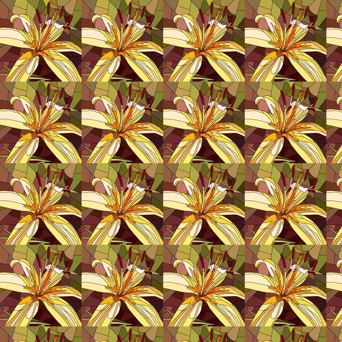 Vinylová Tapeta Vektorové ilustrace květin žluté lilie. - Květiny
