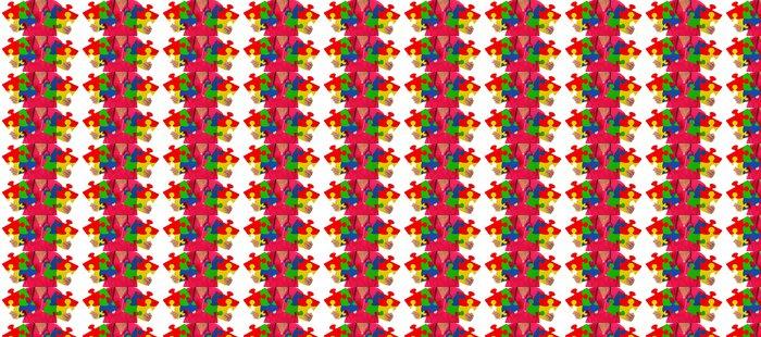 Vinylová Tapeta Sestra drží dva dílky reprezentovat autismu povědomí - Zdraví a medicína