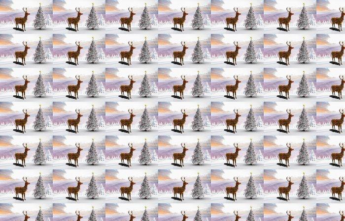 Vinylová Tapeta Kompozitní obraz z vánoční strom a sobů - Mezinárodní svátky
