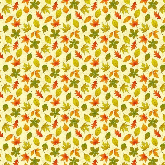 Tapeta Winylowa Jesień powtarzalny wzór - Pory roku