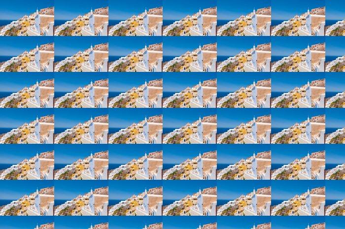Vinylová Tapeta Barevné Oia na Santorini Caldera okraji útesů, Řecko. - Evropa