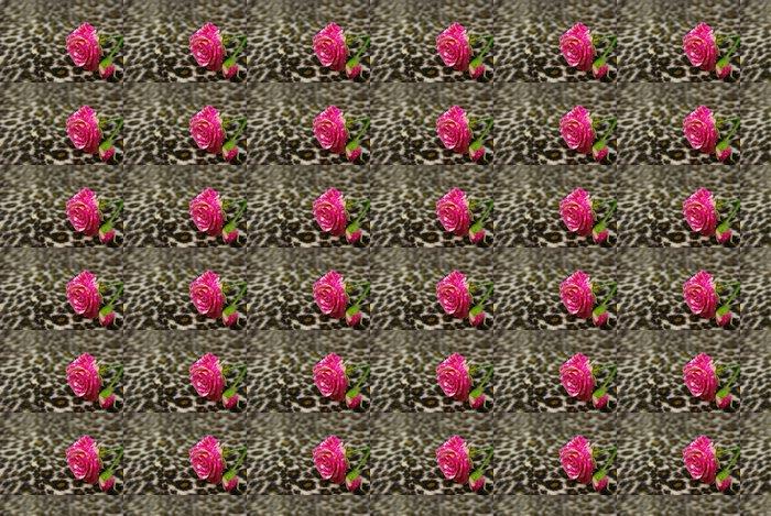 Vinylová Tapeta Růžové růže - Struktury