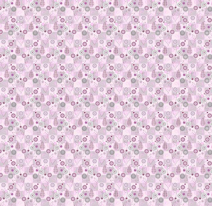 Vinylová Tapeta Seamless pattern - Růžové květy - Slavnosti