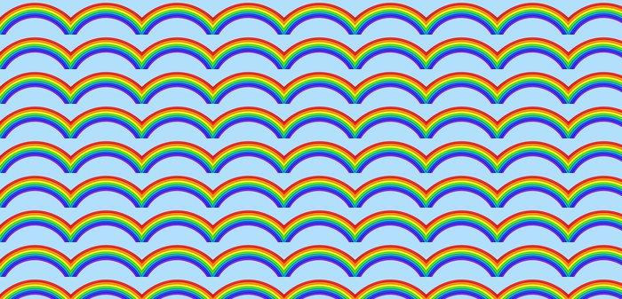 Vinylová Tapeta Duha proti modré obloze - Pozadí