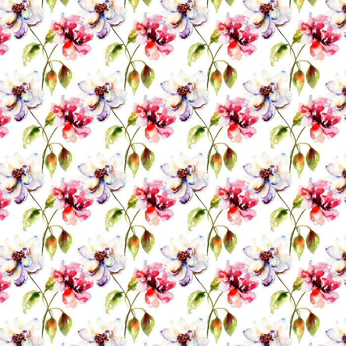 Vinylová Tapeta Bezešvé tapety s dekorativní květiny - Květiny