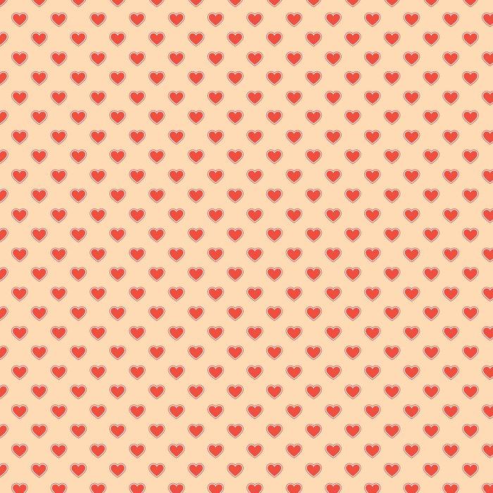 Vinylová Tapeta Vzory srdce tkaniny - Mezinárodní svátky