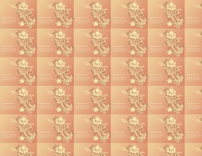 Vinylová Tapeta Nádherné květinové ozdobné pozadí - Pozadí