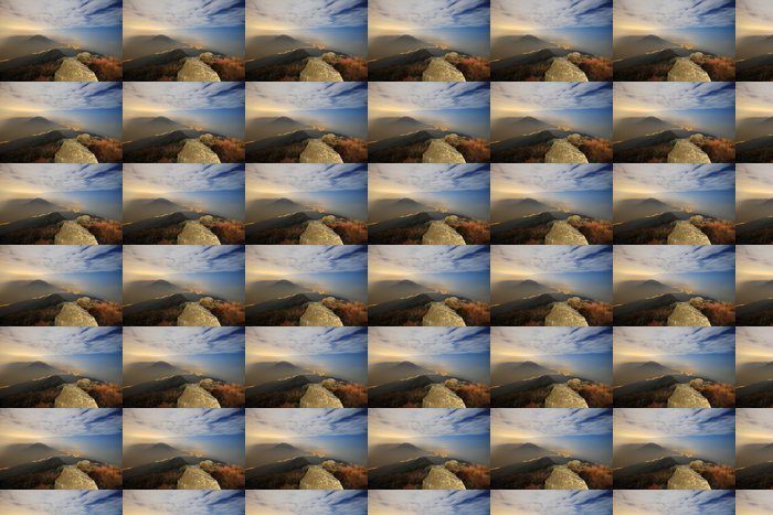 Vinylová Tapeta Západ slunce nad horami - Hory