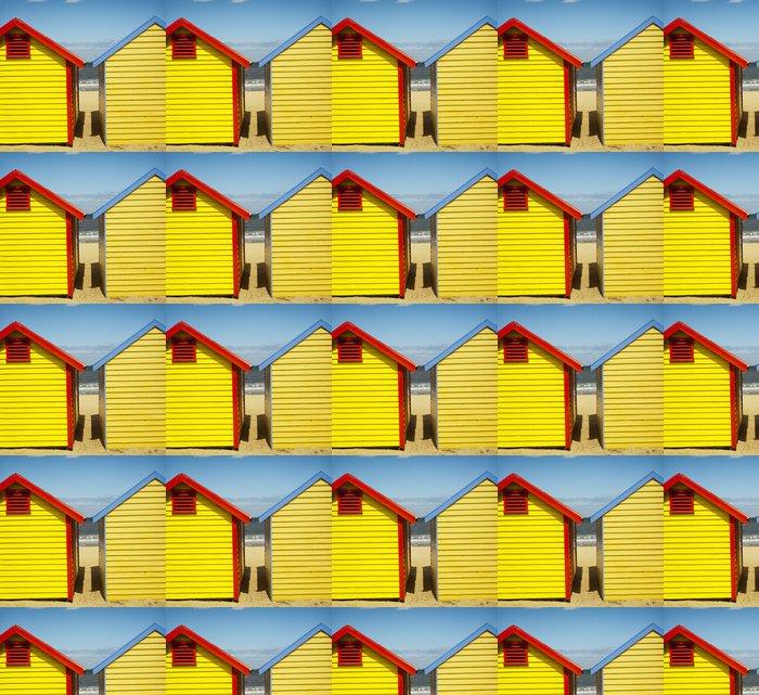 Vinylová Tapeta Cabanes de plage colorées - Brighton beach - Melbourne - Oceánie