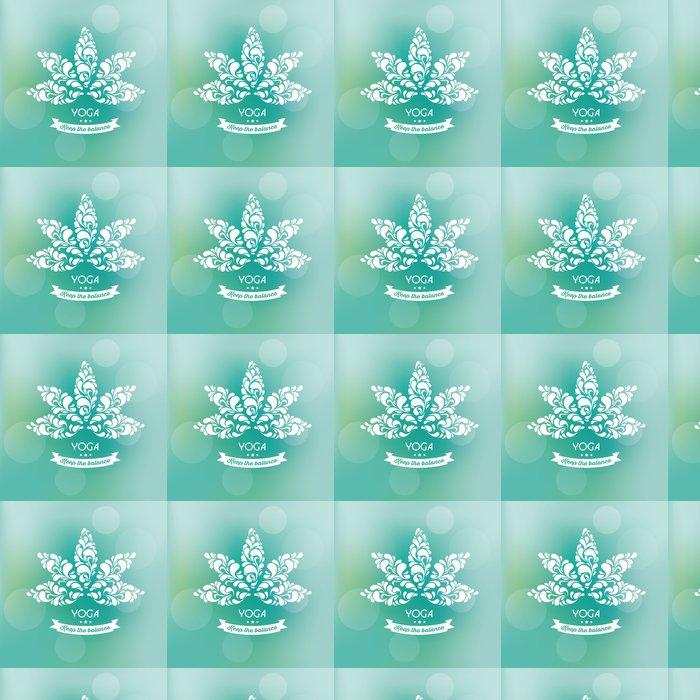 Vinylová Tapeta Vektor pozadí s Lotus - okrasné Label - Životní styl, péče o tělo a krása