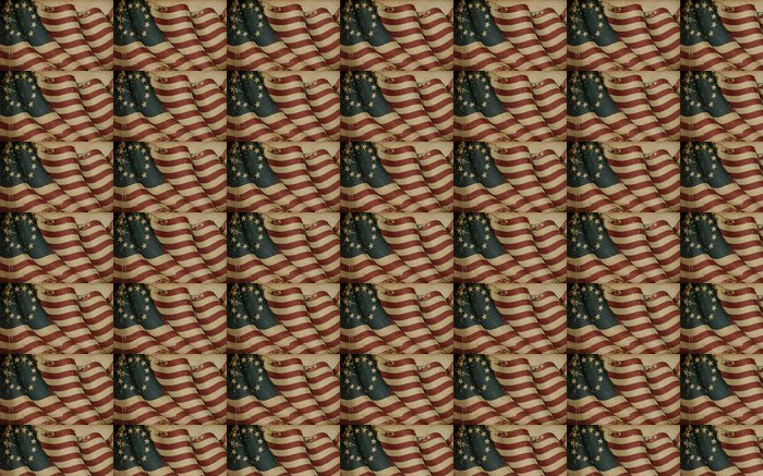 Vinylová Tapeta USA Betsy Ross Starý papír - Pozadí