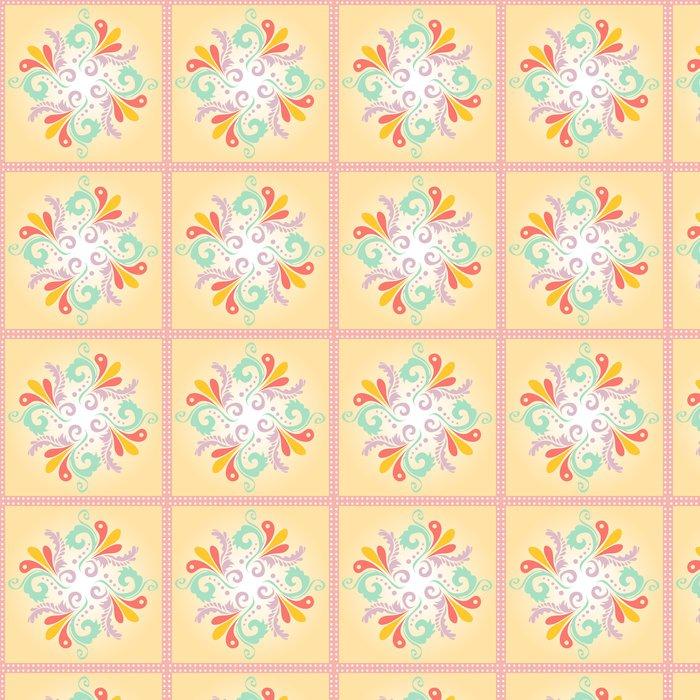 Vinylová Tapeta Kruhový květinový vzor pozadí - Struktury