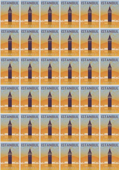 Vinylová Tapeta Istanbul ročník plakát - Cestování