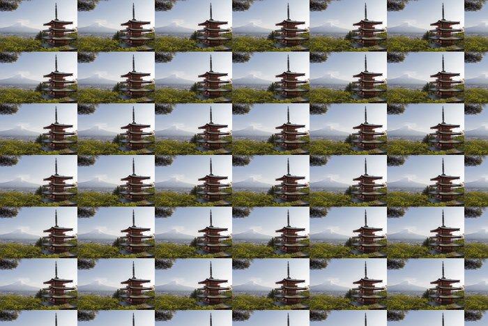 Vinylová Tapeta Mt. Fuji pohledu zezadu Chureito Pagoda - Témata