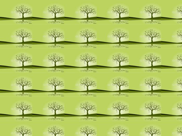 Vinylová Tapeta Vector set - Vector zelené květy na jaře - Roční období