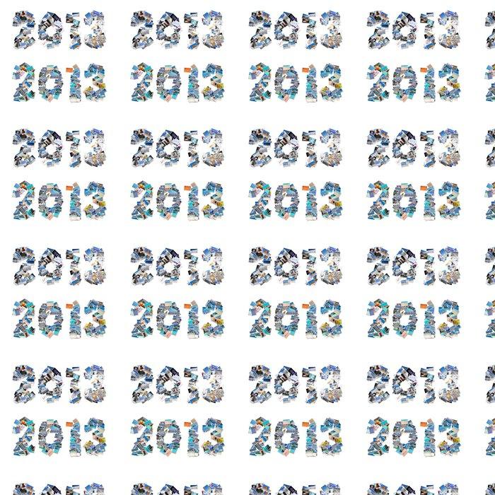 Vinylová Tapeta 2013, koláže hora dovolená na pláži - Mezinárodní svátky