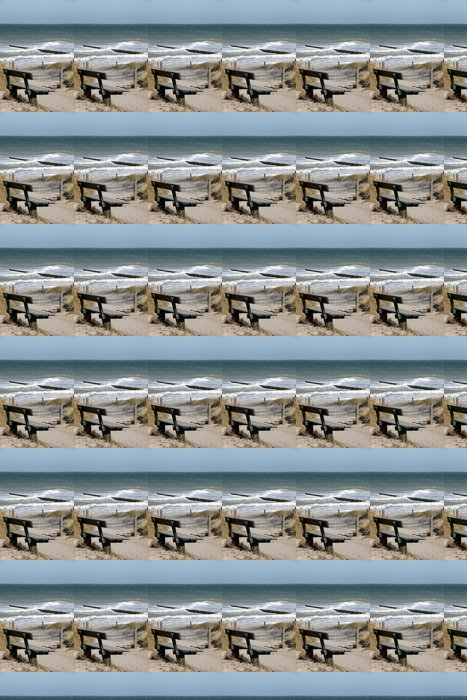 Vinylová Tapeta Bank mit Blick - Moře a oceán