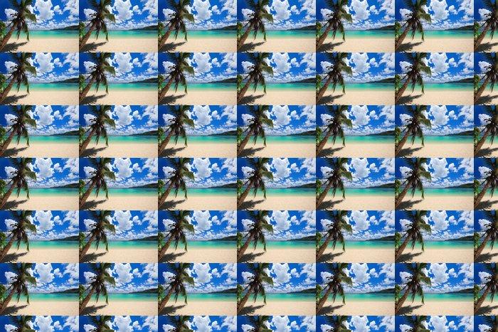 Vinylová Tapeta Ohromující pláž v Seychely - Voda