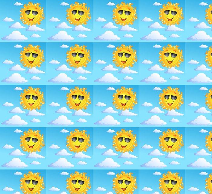 Vinylová Tapeta Slunce s mraky téma 3 - Roční období