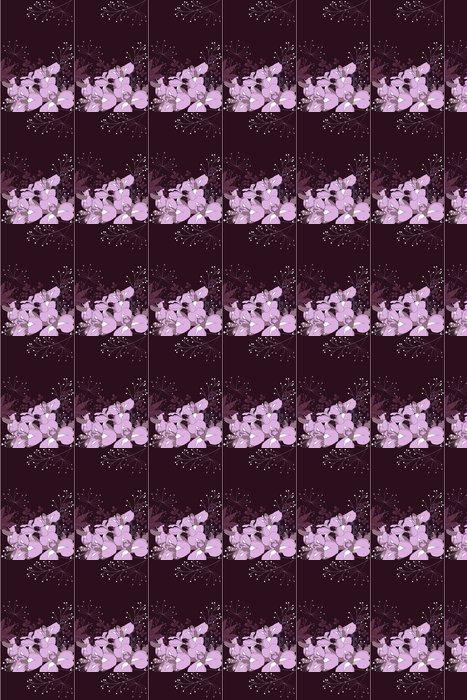 Vinylová Tapeta Dark květinové pozadí s vrstevnicemi kosatců a rostlin - Pozadí
