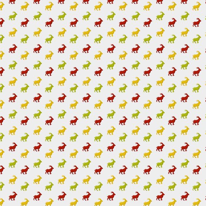 Vinylová Tapeta Abstrakt koza na bílém pozadí. bezešvé vzor - Pozadí