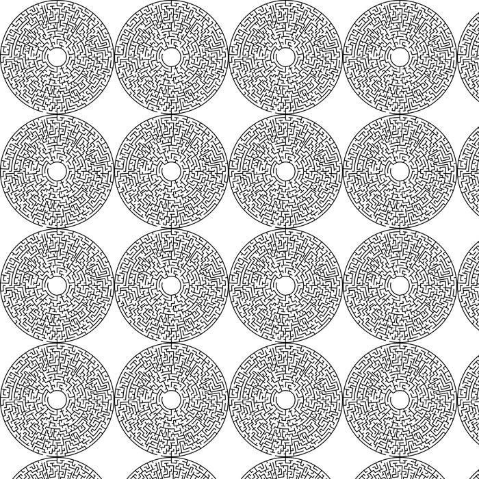 Vinylová Tapeta Kruhové bludiště - Nálepka na stěny