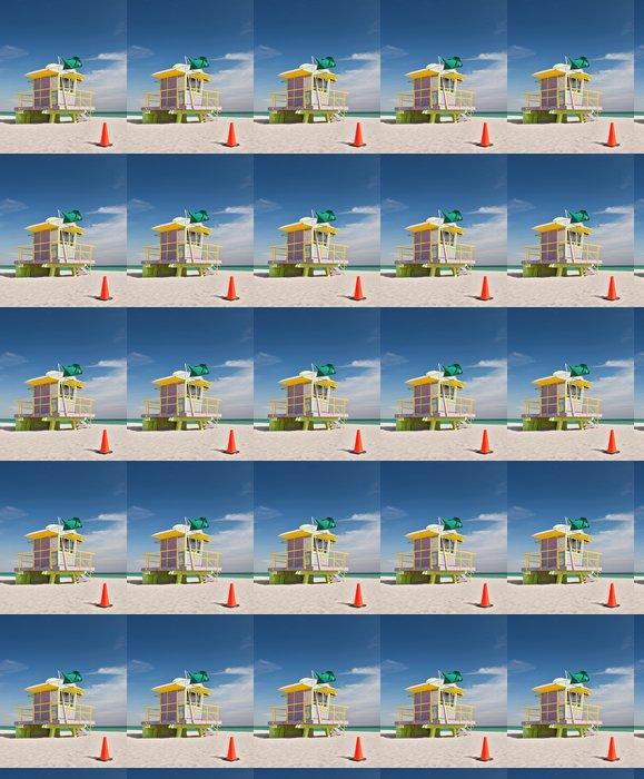 Vinylová Tapeta Miami Beach na Floridě, barevné plavčík dům - Amerika