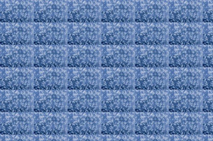 Vinylová Tapeta Ledové krystalky na skle - Roční období