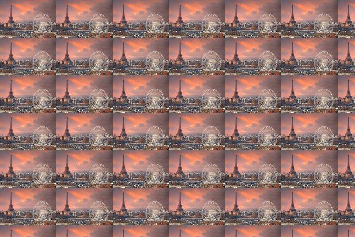 Vinylová Tapeta Paříž pod Skyscape thundery - Témata