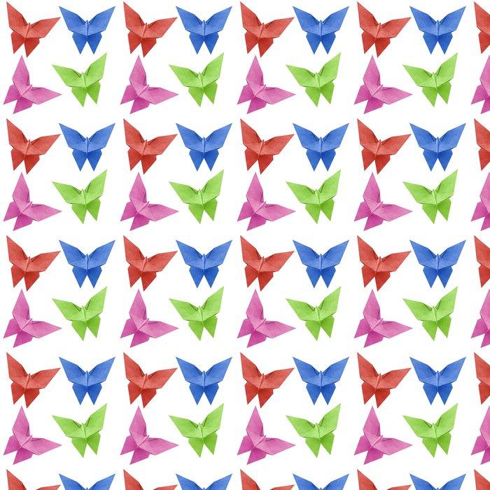 Vinylová Tapeta Origami motýl Recycle Papercraft - Nálepka na stěny