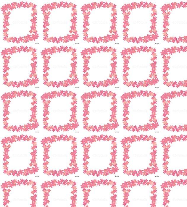 Vinylová Tapeta Rámec z abstraktních květů růžové barvy na bílém - Pozadí
