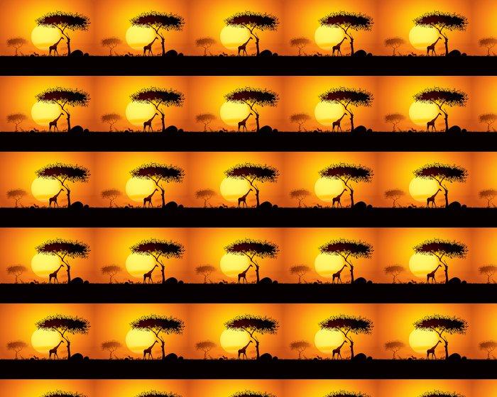 Vinylová Tapeta Klidné západ slunce scéna v Africe - Témata