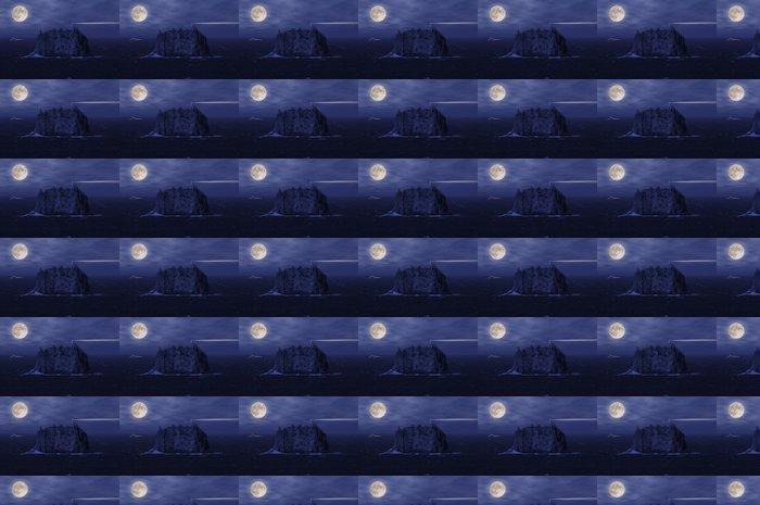 Vinylová Tapeta Stromboli Island a jachty na otevřeném moři v noci. - Evropa