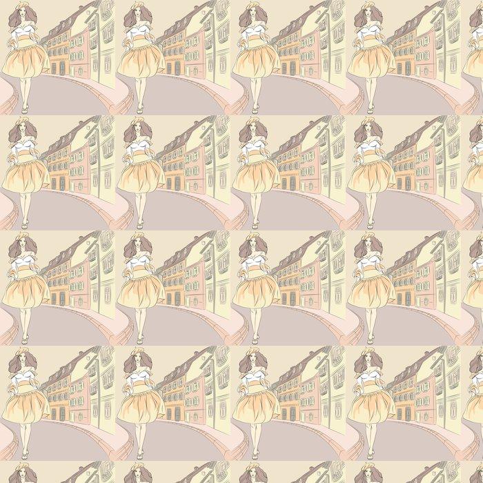 Vinylová Tapeta Vektorové krásný módní dívky topmodelky v šatech - Osud