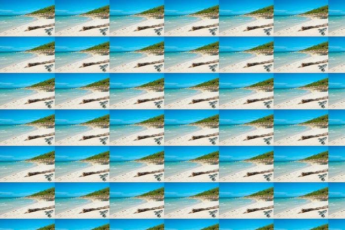 Vinylová Tapeta Idylické Blue Beach na Kubě - Ostrovy