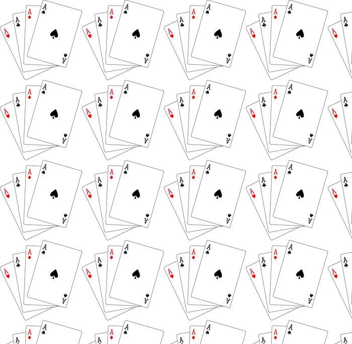 Vinylová Tapeta Čtyři esa hrací karty poker - Nálepka na stěny