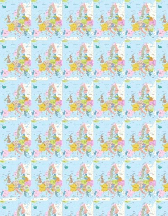 Vinylová Tapeta Europa-vysoce detailní map.Layers použít. - Témata