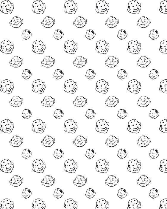 Vinylová Tapeta V jednoduchých tvář náčrtky černá a bílá - Štěstí