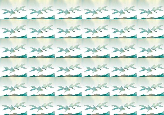 Vinylová Tapeta Pohádkové ryby / Undersea abstraktní svět - Vodní a mořský život